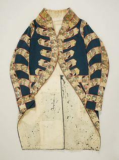 Livery coat, wool, date given as early 19th century, Italian.