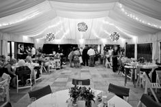 #vail racquet club mountain wedding #tented wedding reception #fabric liner #david gillette photography #purple and yellow wedding