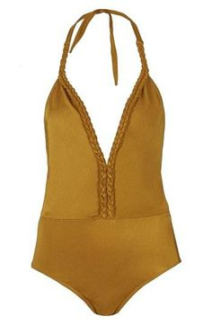 Obsessed with the braided trim on this swimsuit