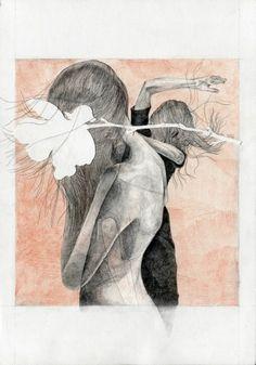 """Itako"" - illustration for ZNAK magazine, by AROBAL"