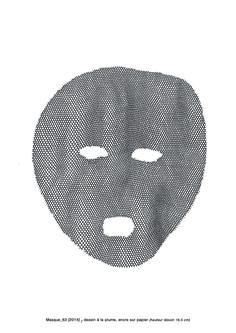 Masque_63 [ 2012 ] / encre sur papier / Rose Holzer Artist, Pink Paper, Ink, Toile, Atelier, Artists