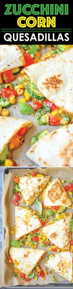 Zucchini Corn Quesadillas - This is so quick, simple and light! And with…