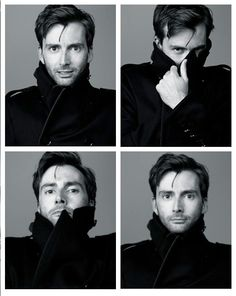 David Tennant. From what has to be my favorite photo shoot of him. He looked so sexy in that jacket! :D