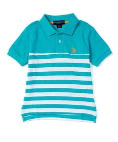8295965efa1a U.S. Polo Assn. Malibu Blue Stripe Polo - Toddler   Boys
