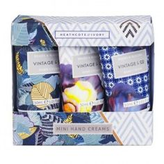 The Braids & Blooms Mini Hand Creams features a new design from Heathcote and Ivory. It's a great idea for a gift.