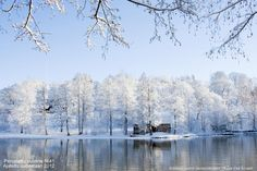 River Mustio and old iron storehouse, Finland Heritage Site, Four Seasons, Homeland, Winter Wonderland, Norway, Travel Inspiration, Scenery, River, Vacation