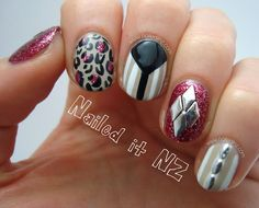 Nailed It NZ: Glam Skittle Nail Art - With Studs From Born Pretty Store http://www.naileditnz.com/2013/09/glam-skittle-nail-art-with-studs-from.html