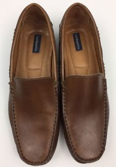 a18638b8e450 G. H. Bass  Marshall  Men s 11 Brown Leather Loafer Slip On Shoes Excellent  Shoe Brown