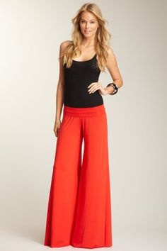 rachel pally - wide leg trouser ... i could have a pair of these in every color!