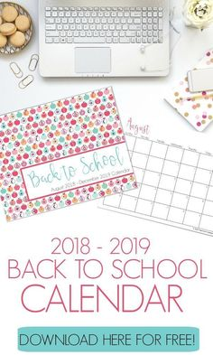 Free Back To School Calendar is part of School Organization Calendar - Ready to go back to school Grab a free back to school calendar to help you plan out your school year and stay organized! Calendar Organization, School Organization, Organizing Ideas, School Calendar, 2019 Calendar, Printable Day Planner, Monthly Planner, Apps, Going Back To School