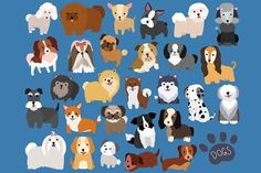 Cute Dogs 29 pc Vector & PNG Set by Kenna Sato Designs on @creativemarket