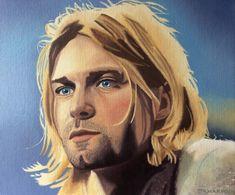 Kurt Cobain Painting, Oil Painting On Canvas, Canvas Art, Oil Portrait, Portrait Paintings, Picture Wire, Smells Like Teen Spirit, Celebrity Portraits, Photorealism
