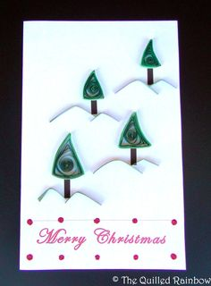 Quilled Christmas Card  Christmas Trees on by TheQuilledRainbow