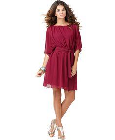 really cute raspberry dress.
