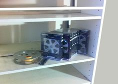Split reel - film analog days next to DVD boxes.
