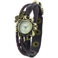 Damen Retro Leder Armbanduhr Schmetterling Quartz Strick Uhr Armreif Armband Braun, http://www.amazon.de/dp/B00GKC3MLQ/ref=cm_sw_r_pi_awdl_XyGltb119DN70