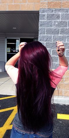 Are you looking for Dk Brown Purple Burgundy hair color hairstyles? See our collection full of Dk Brown Purple Burgundy hair color hairstyles and get inspired! Purple Burgundy Hair, Violet Hair Colors, Red Violet Hair, Hair Color Purple, Cool Hair Color, Brown Hair Colors, Color Red, Burgundy Color, Black Cherry Hair Color