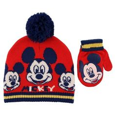Toddler Boys' Disney Mickey Mouse Knit Beanie Hat and Mittens Set Red : Target Baby Winter Hats, Baby Hats, Game Of Thrones Winter, Knit Beanie Hat, Disney Mickey Mouse, Our Baby, Toddler Boys, Mittens, Knitting