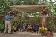 Construct a Hurricane-resistant Pergola in Your Back Yard to Improve a Bare Corner and Add a Shaded Sitting Area