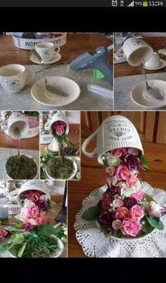 Fincandan dökülen çiçekler (1)
