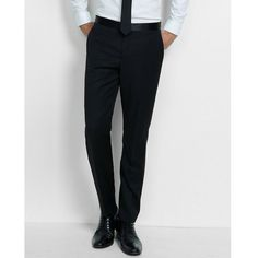 Express Slim Photographer Black Wool Blend Tuxedo Pant (1.935.840 IDR) ❤ liked on Polyvore featuring men's fashion, men's clothing, men's pants, men's dress pants, black, mens zip off pants, mens tuxedo pants, express mens pants, mens slim fit dress pants and mens zipper pants