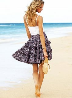 FREE Ruffled Summer Skirt Sewing Pattern and Tutorial