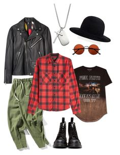 Grunge by polystar-556 on Polyvore featuring Hybrid, Paul Smith, Dr. Martens, Topman, YOHJI YAMAMOTO POUR HOMME, 1913, AMIRI, men's fashion and menswear