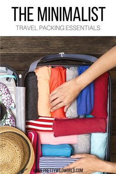 Minimalist Travel Packing Essentials | Carry on | Weekend getaway | Minimalism | Travel Essentials | Ultimate travel list | Packing list | Luggage packing list for females | Female packing list