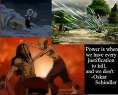Aang meets Schindler