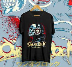 ONE OK ROCK SKULL BLACK T-Shirt Unisex Size S,M,L,XL | DESIGN1512 #Unbranded #ShortSleeve
