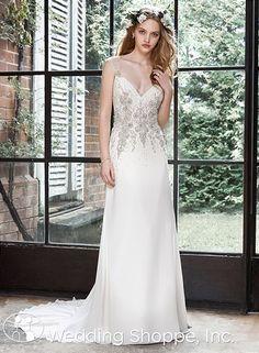 Maggie Sottero  Bridal Gown Zarina / 5HW166, $2498, Chiffon, sheath