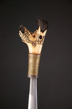INDO519: Dayak Mandau Sword Knife Handles, Martial Artist, Bone Carving, Knives And Swords, Borneo, Art Forms, Philippines, Weapons, Flats