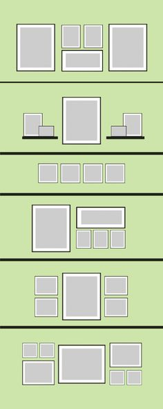 Wall Frame Layout Template | Still need some inspiration? Check out some of the layouts below