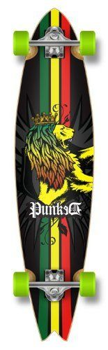 New Blank & Graphic FISHTAIL Complete Longboard skateboard w/ 71mm wheels, RASTA by The Epic Sports. $89.99. This item is ready to ride !!!. Save 10% Off!