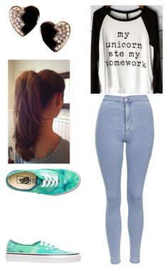 """""""Untitled #162"""" by rhay-q ❤ liked on Polyvore featuring Yves Saint Laurent, Topshop and Vans"""