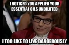 #doterra austin powers funny! This is how i should react when people tell me I smell like oils!
