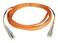 Tripp Lite N320-46M Duplex Multimode 62.5/125 Fiber Optic Patch Cable LC/LC - 46M (150ft) by Tripp Lite. $57.87. From the Manufacturer                 Don't settle for less than the best—enjoy better signal quality and faster transmission! Tripp Lite's N320-Series fiber cables assure peak performance throughout your local area network application. Unlike cut-price cables, the N320-Series is manufactured to exacting specifications, using superior materials, f...