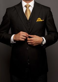 BEST SUIT: Well-suited in gold.