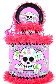 World of Pinatas - Girly Skull Personalized Pinata, $39.99 (http://www.worldofpinatas.com/girly-skull-personalized-pinata/)