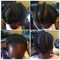 Natural hairstyles! Flat twists hairstyles for a little girl!