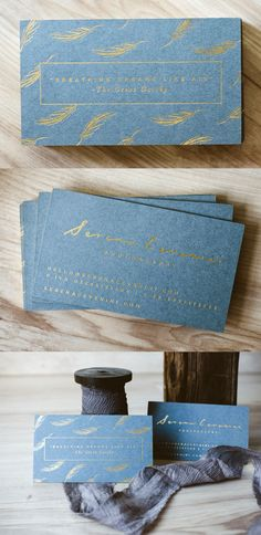 Inspirational Blue And Gold Luxury Business Cards For a Photographer