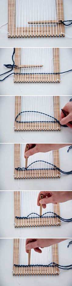 Plain Weave- how to use your Unusual Pear Loom|The Weaving Loom