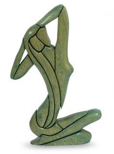 Hand Made Female Form Wood Sculpture - Woman's Silhouette   NOVICA