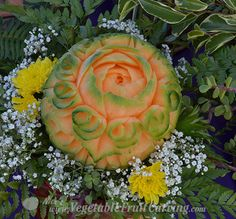 Thai style cantaloupe carving by Nuj