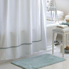 Bathroom remodel on pinterest teak shower systems and for Ballard designs bathroom rugs