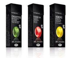 Lavdas_0% SUGAR Candies. Flavours: Eucalyptus, Cinnamon, Lemon.  Packaging design by mousegraphics