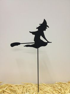 This set of 3 witch yard stakes are the perfect finish to your Halloween decorating! These are a great item to place in your yard or in a
