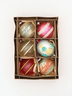 Free People Vintage Set of Assorted Ornaments, $68.00 | #christmas #xmas #holiday #decorating #decor
