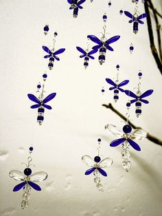 Xmas Gift Blue Dragonfly Mobile Nursery Ideas by MobileSuncatchers