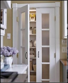 Perfect Pantry Door Ideas For Your Inspiration. Here are the Pantry Door Ideas For Your Inspiration. This post about Pantry Door Ideas For Your Inspiration was posted  Kitchen Pantry Doors, Kitchen Pantry Design, Kitchen Pantries, Kitchen Ideas, Kitchen Small, Pantry Room, Small Pantry Closet, Kitchen Storage, White Pantry